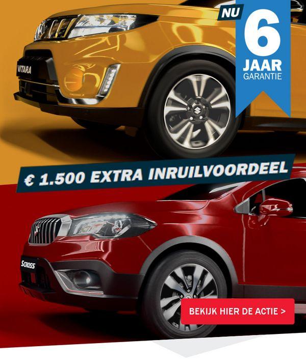 Mengelers Suzuki € 1500 extra inruilvoordeel en 6 jaar garantie