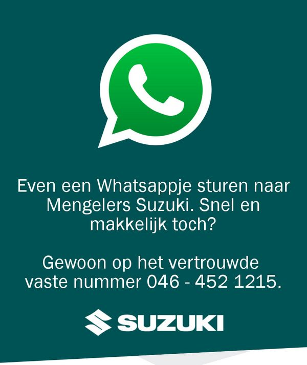 Whatsapp met Mengelers Suzuki