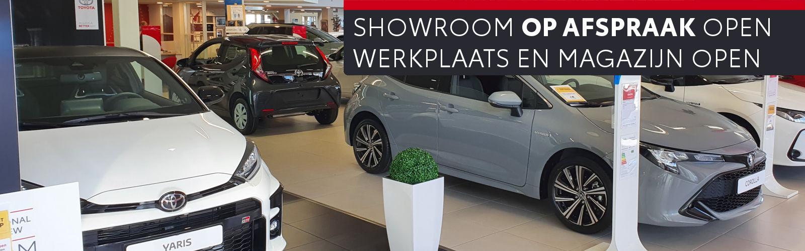 Mengelers Toyota showroom op afspraak open