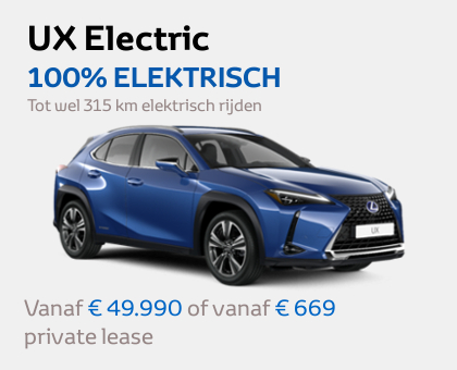 Nieuwe Mengelers Lexus Sittard UX Electric februari 2021