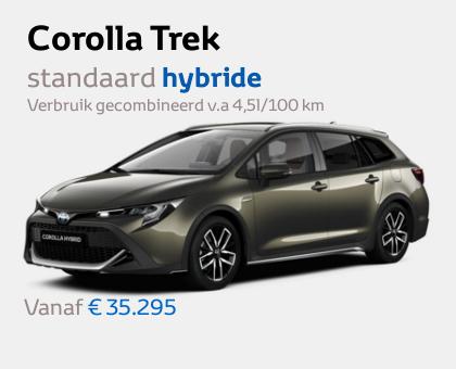 Nieuwe Mengelers Toyota Corolla TREK