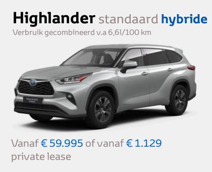 Nieuwe Mengelers Toyota Highlander