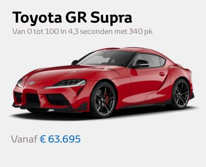 Nieuwe Mengelers Toyota Supra