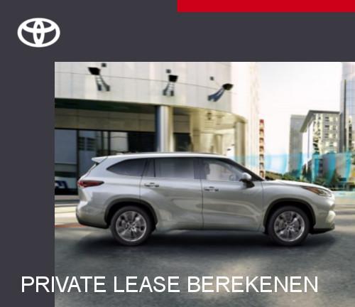 Mengelers Toyota Highlander - Private lease berekenen