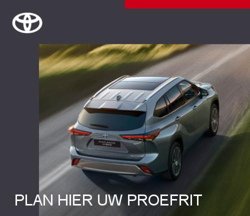 Mengelers Toyota Highlander - Plan proefrit