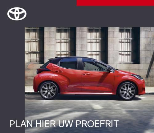 Proefrit Toyota Yaris inplannen
